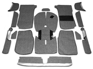 UK Grey Carpet Kit - Right Side Drive