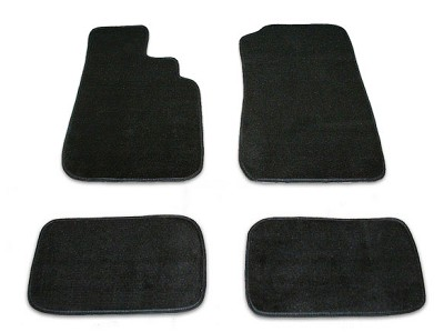 Black Floor Mat Set